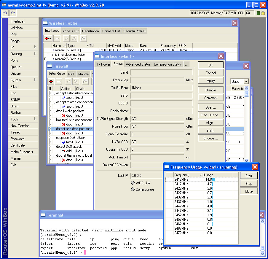 RouterOS will replace your hardware router and will provide more funcions wonderful Screen Shot